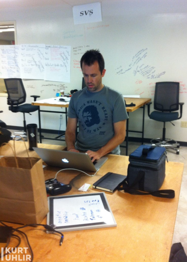 Kurt Uhlir - Sideqik CEO and co-founder doing sales reach outs from Flashpoint at Georgia Tech