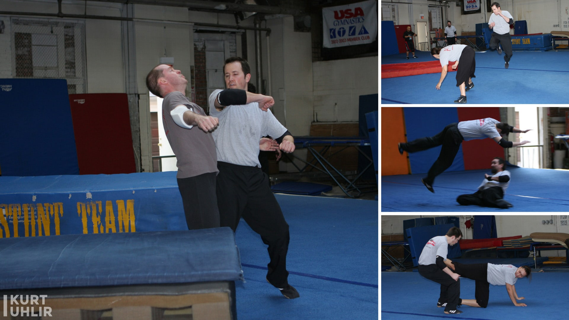 Asylum Stunts training - featuring stuntman Kurt Uhlir