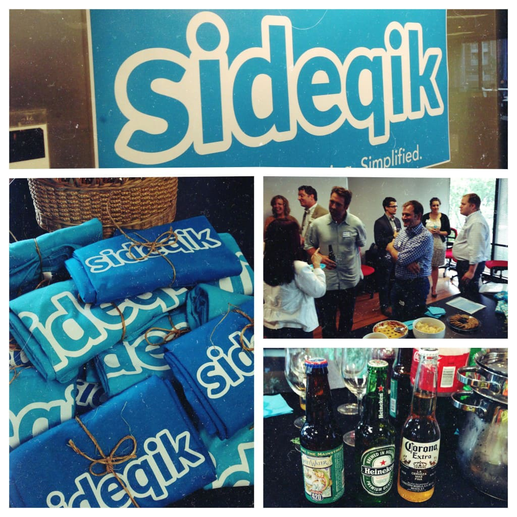 Our customer event at Sideqik - headshots happy hour