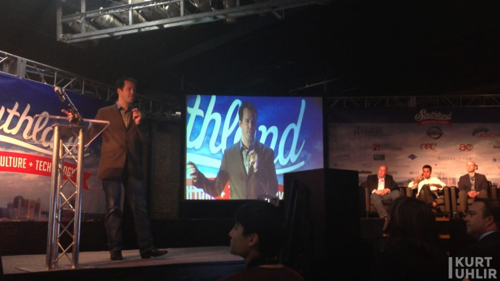 Kurt speaking to venture capitalists at Southland by LaunchTN