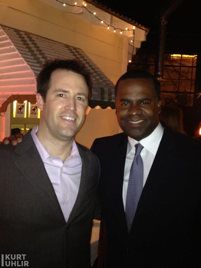 Kurt Uhlir and Atlanta Mayor Kasim Reed at Thrust Inc party