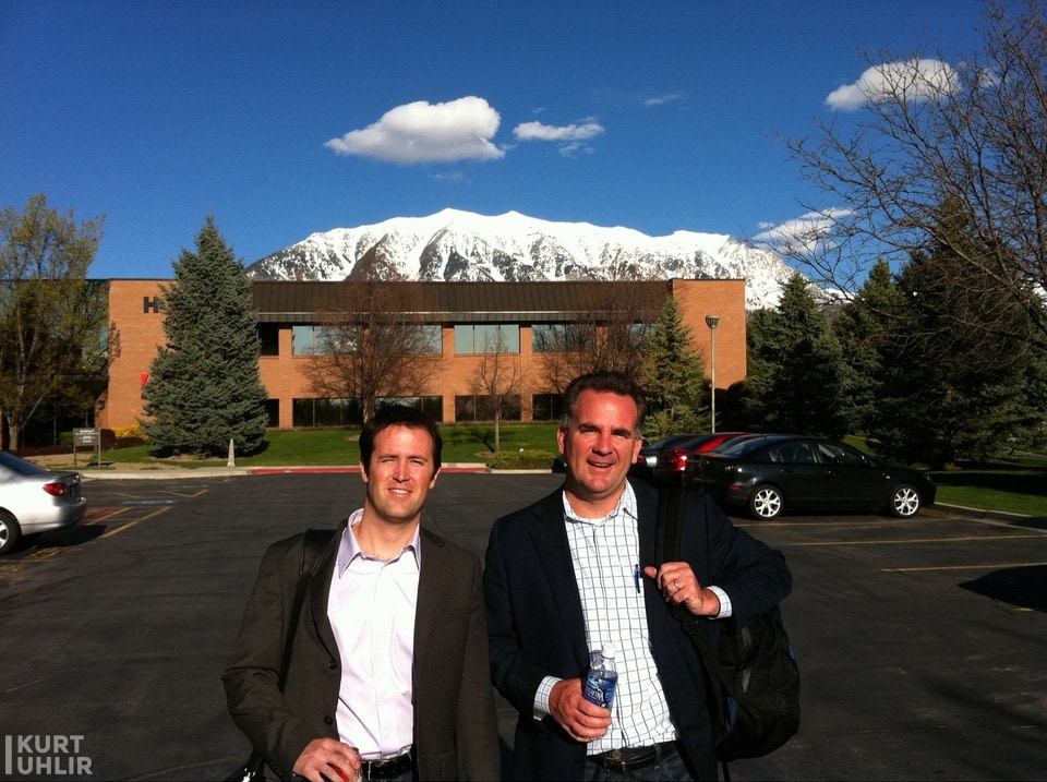 Kurt Uhlir and Reggie Bradford at Adobe Utah Campus - Vitrue