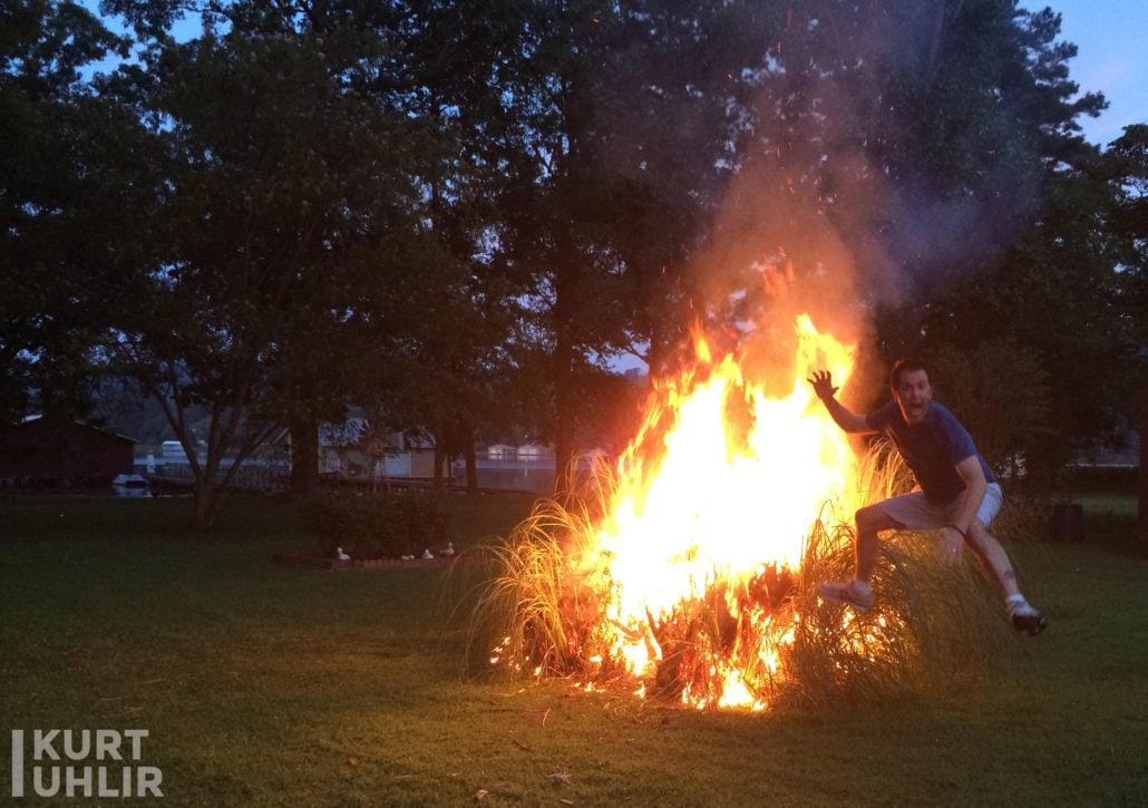 Kurt Uhlir - backyard bonfire fun