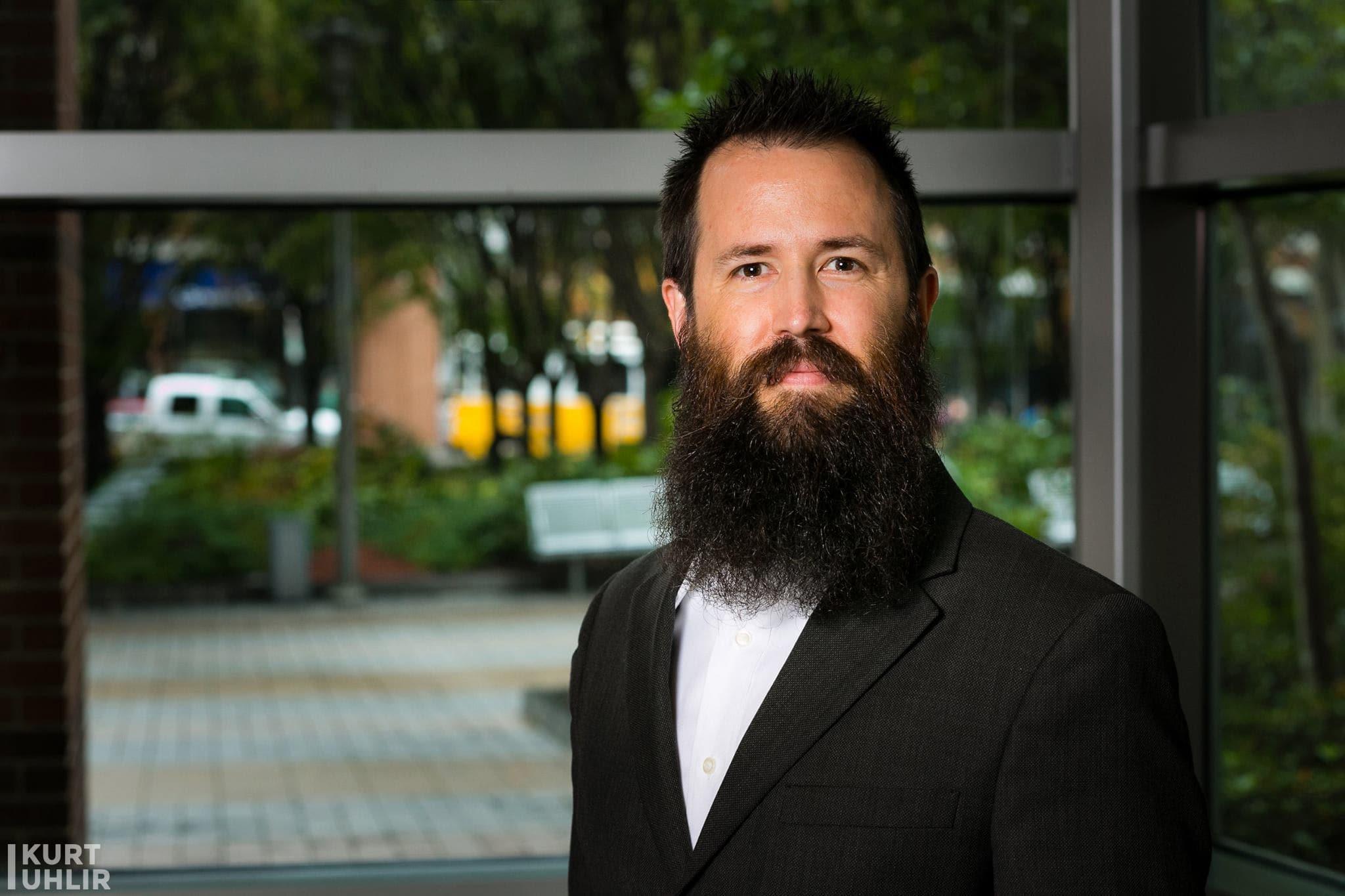 Kurt Uhlir bearded headshot - fully operational battle beard