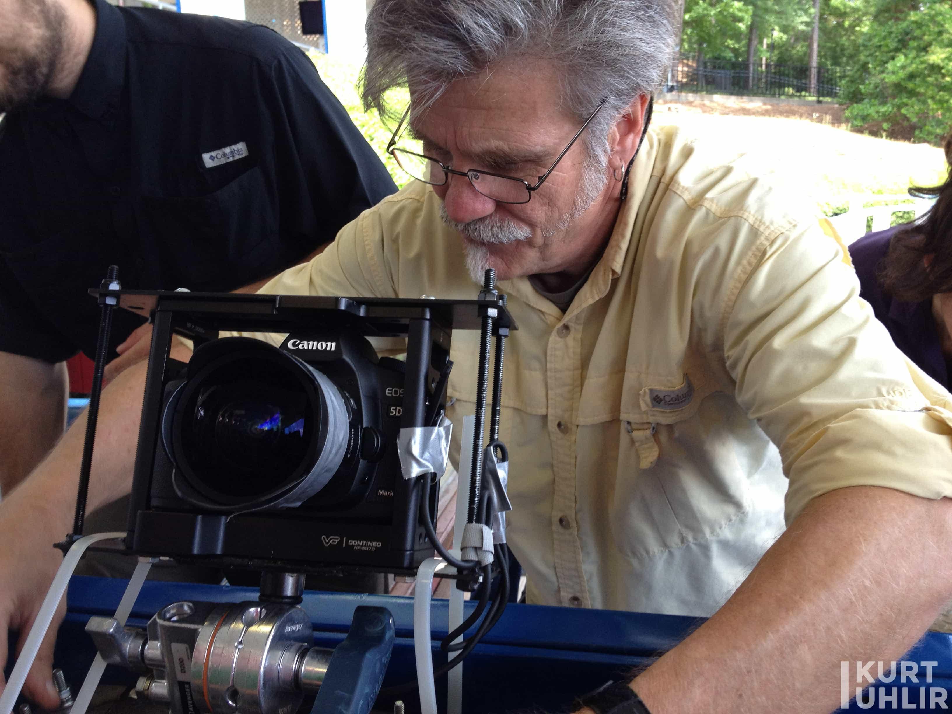 Kurt Uhlir as model for Six Flags over Georgia - behind the scene at photo shoot