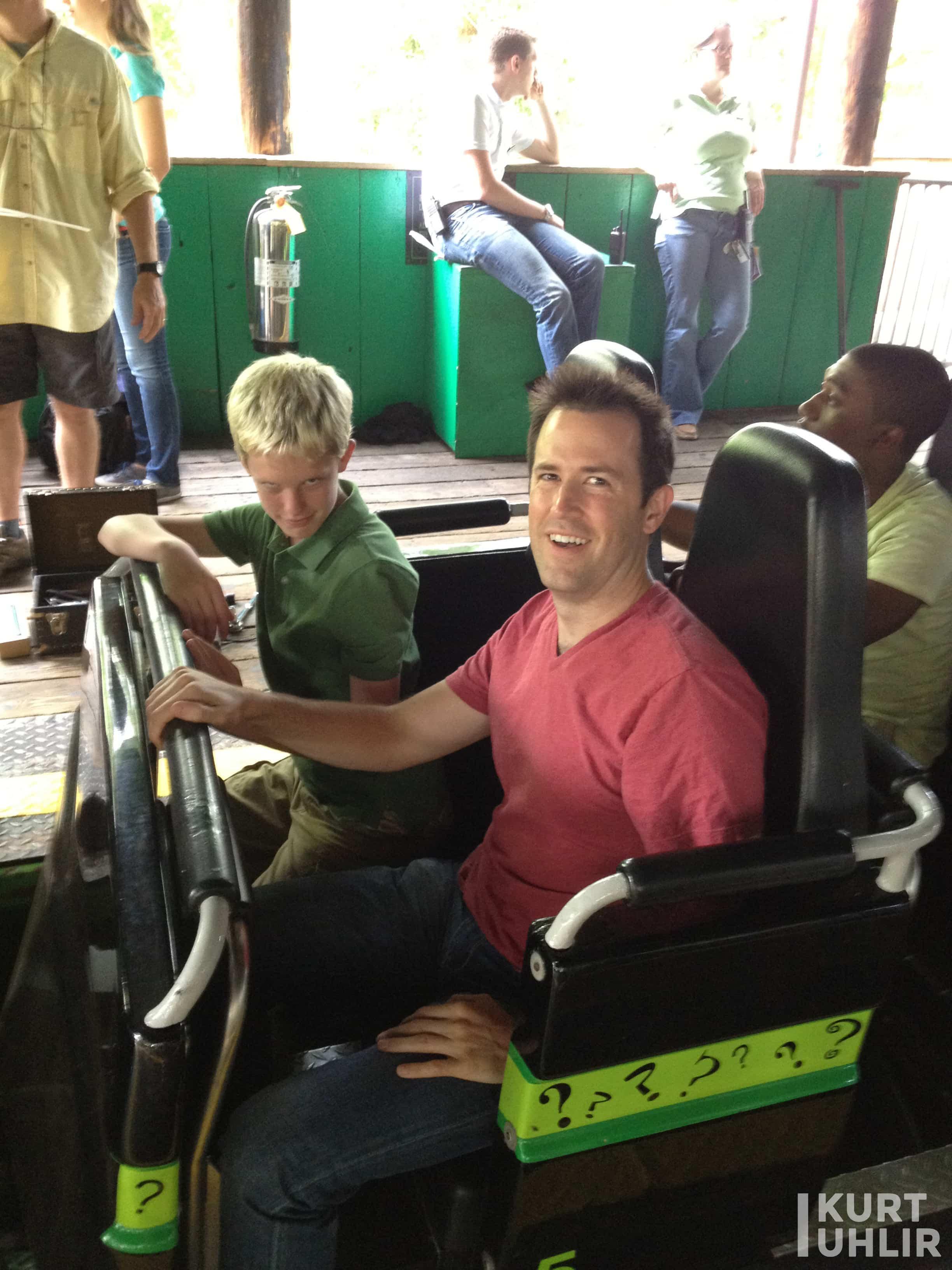 Kurt Uhlir behind the scenes at Six Flags photo shoot