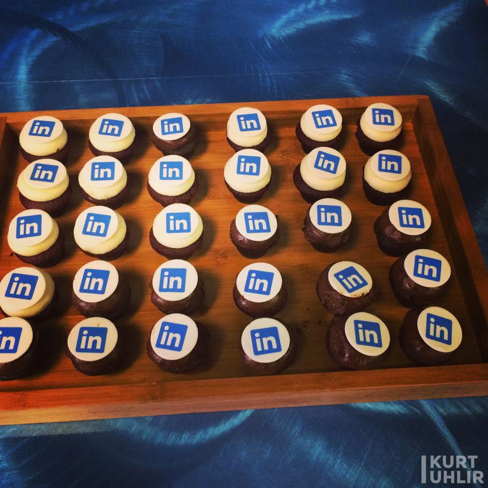 cupcakes at LinkedIn's Headquarters