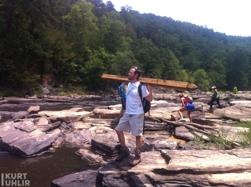 Kurt Uhlir hiking at Sweetwater State Park - is this a social post