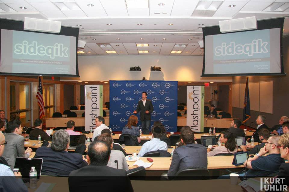 Kurt Uhlir pitching Sideqik at SUNY Global Center - State University of New York