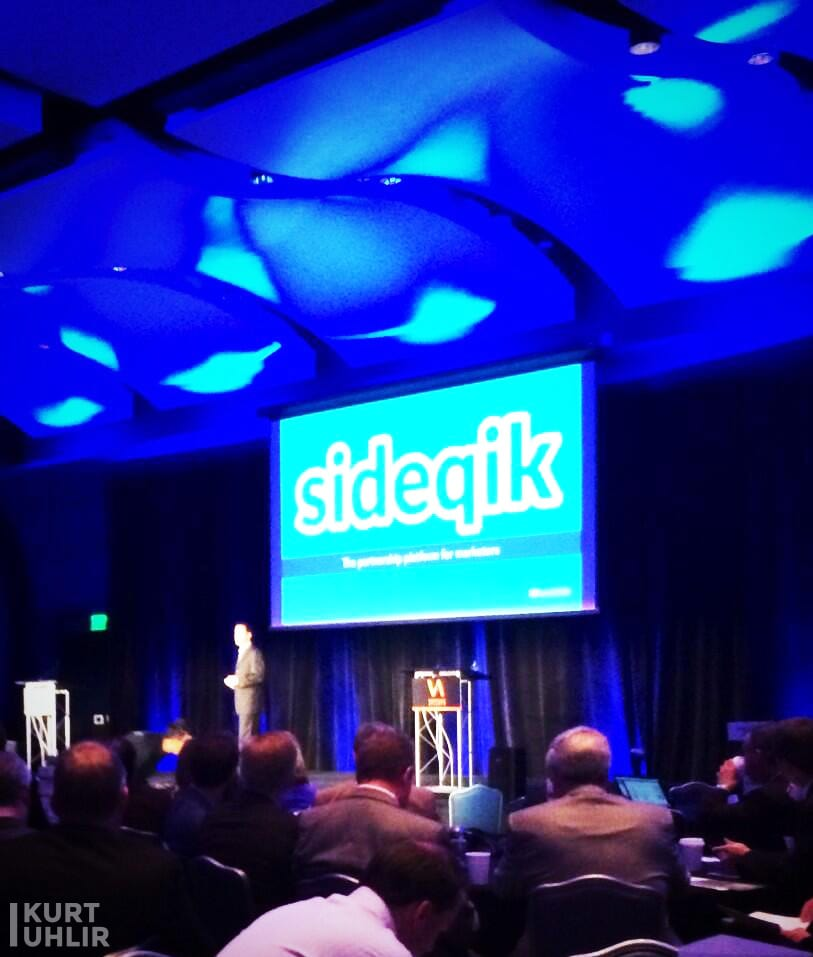 Kurt Uhlir presenting Sideqik at Venture Atlanta. Company part of Flashpoint at Georgia Tech, Atlanta Tech Village, and ATDC. Influencer Marketing and Partner Marketing