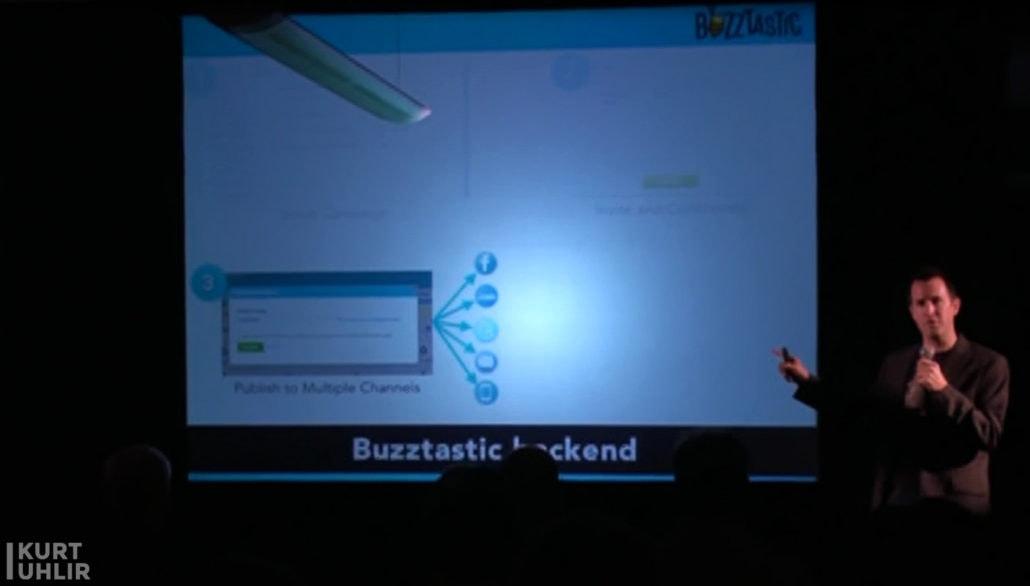 Kurt Uhlir presenting Sideqik (originally Buzztastic) at Mithril Capital with Flashpoint