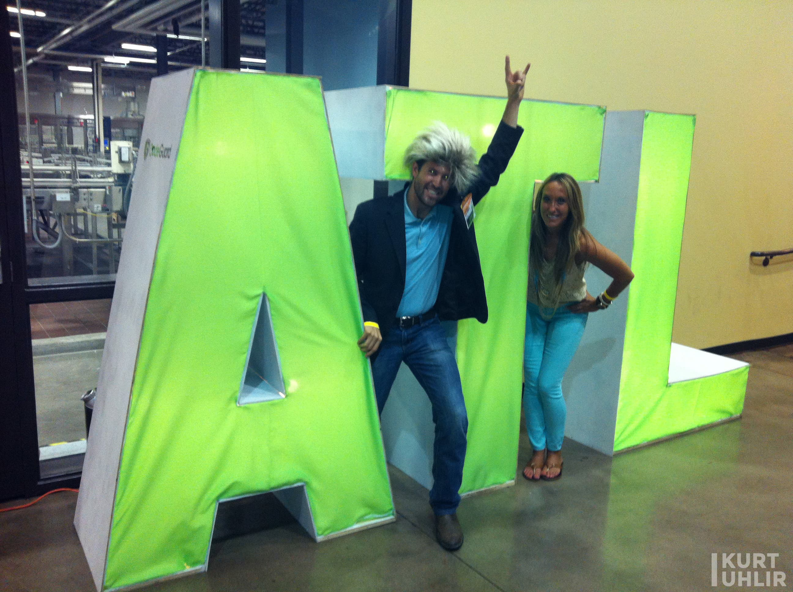 Kurt Uhlir and Kristen Rachels at TechCrunch Atlanta event repping Southern Technology Leaders (SoTech)