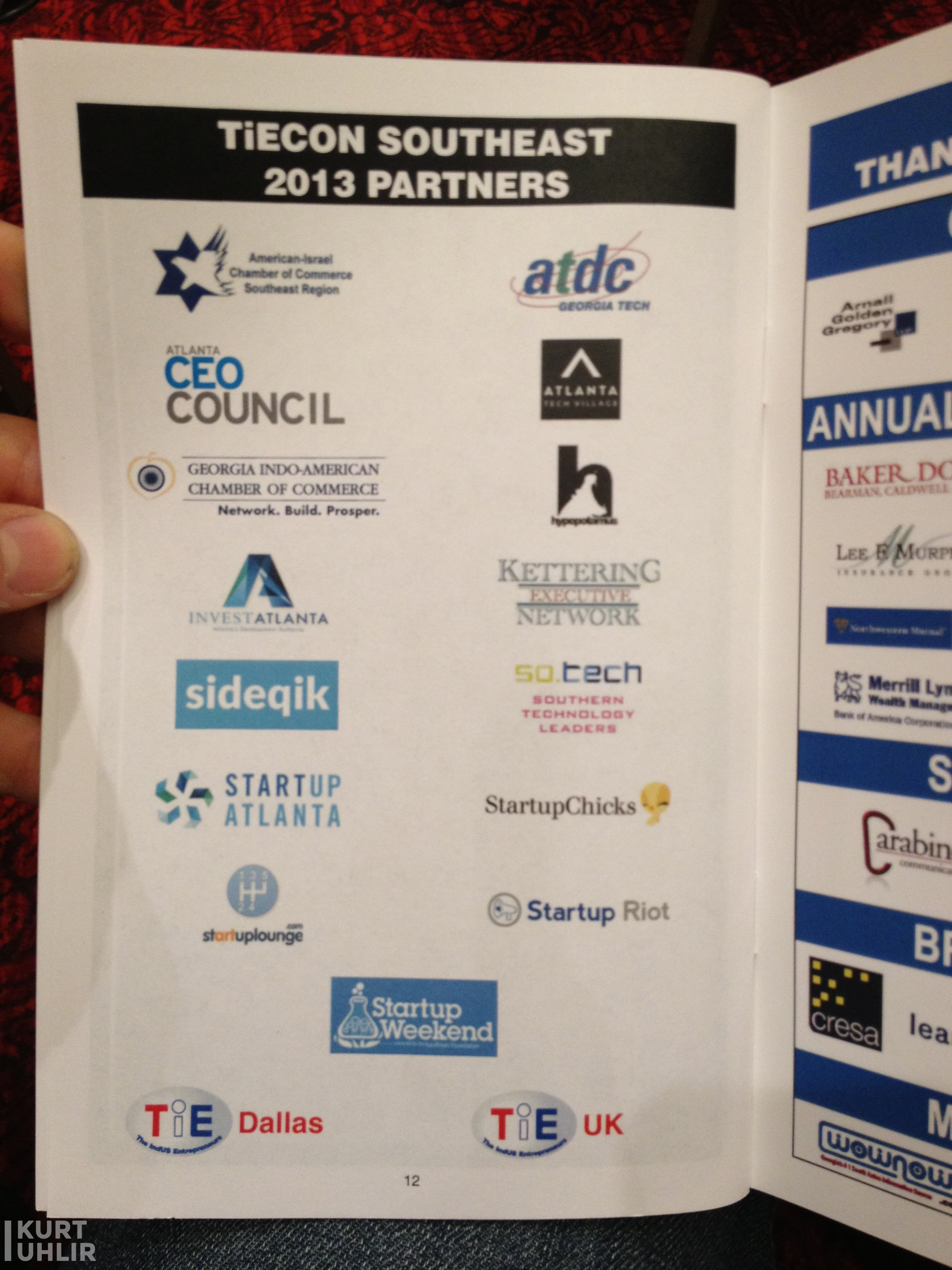 TiECON Southeast 2013 - Southern Technology Leaders and Sideqik as partners