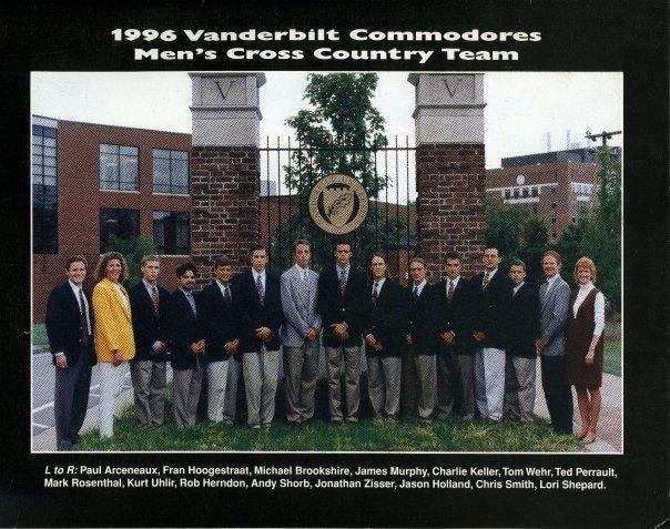 Kurt Uhlir - 1996 Vanderbilt Men's Cross Country Team