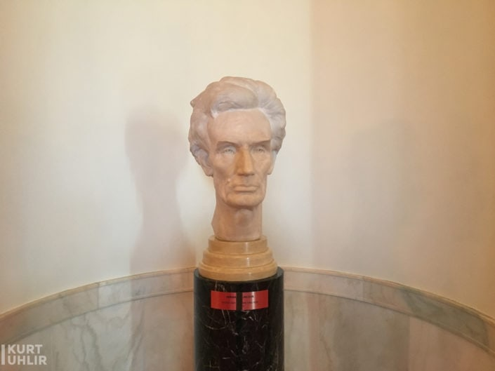 Bust of Abraham Lincoln in Cross Hall at The White House