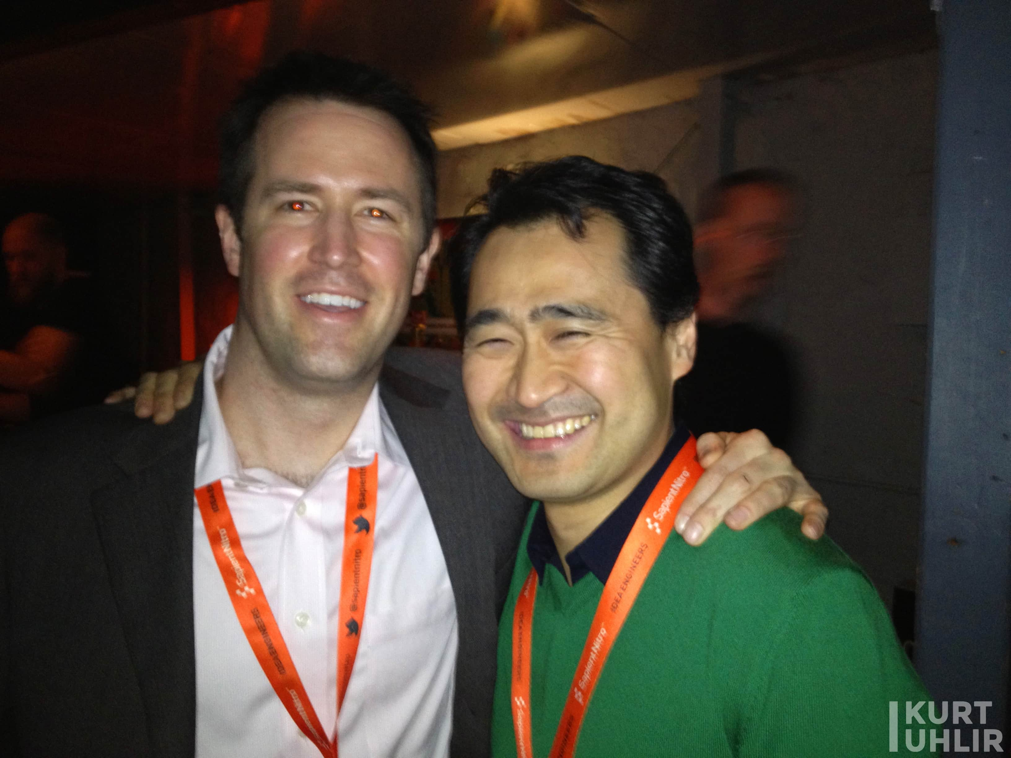 CEO and Founder of Meltwater, Jørn Lyseggen with Technology Expert Kurt Uhlir
