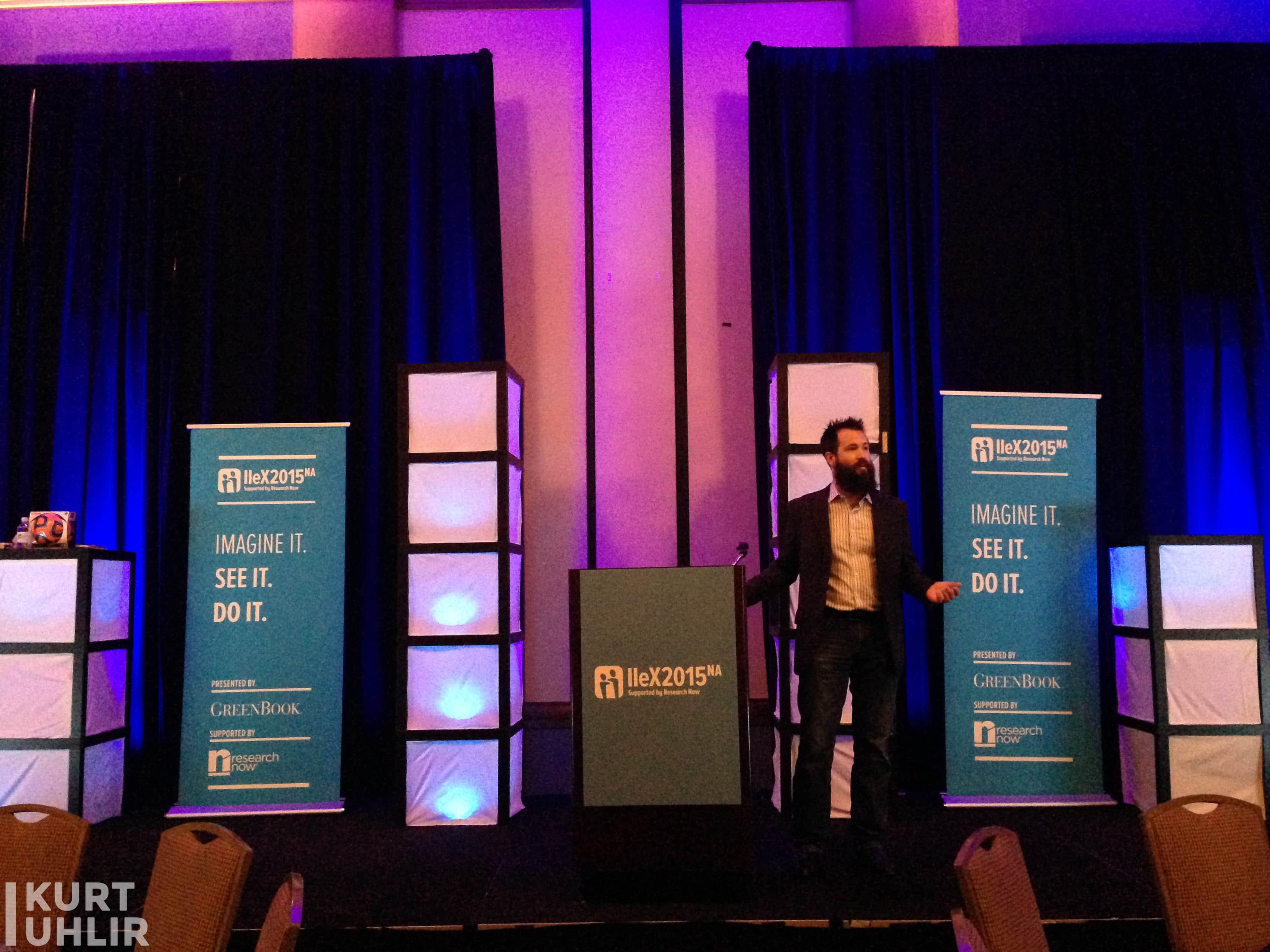 Kurt Uhlir speaking on innovation and disruption at conference