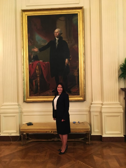Margarita Mendoza at White House for the Made in America Roundtable