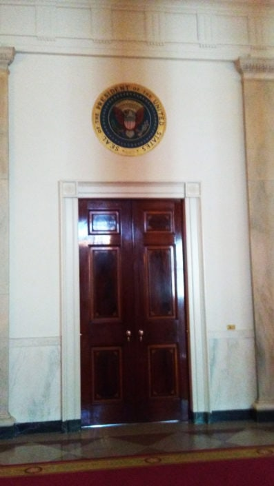 Misc White House Photos - Door to Blue Room