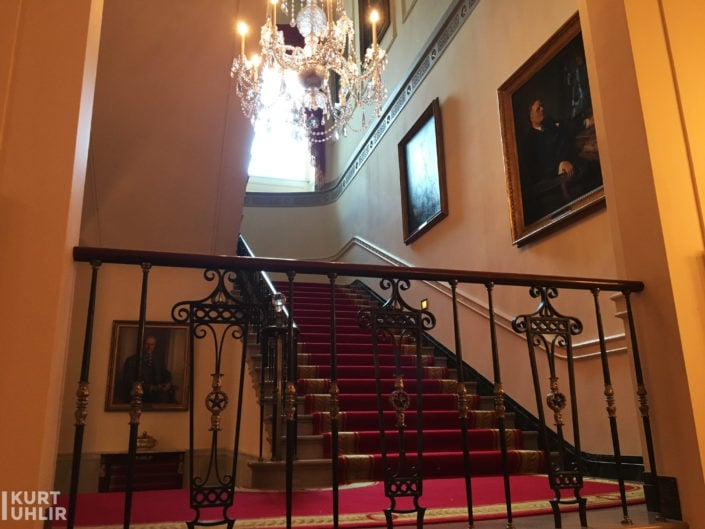 Stairs to the 2nd and 3rd floor of the White House Residence