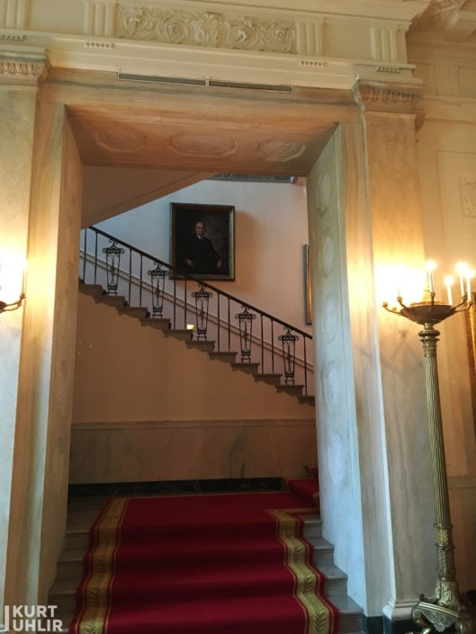 White House Residence Entrance Hall Inside Stairs
